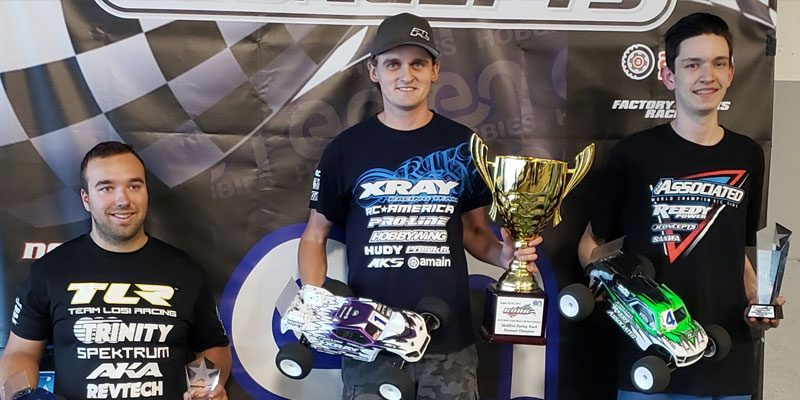 Ty on the podium at the 2019 ROAR 1/10 Offroad Electric Nationals